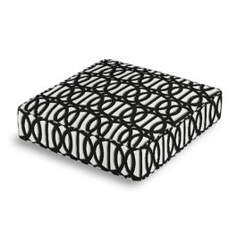 Black & White Trellis Box Floor Pillow