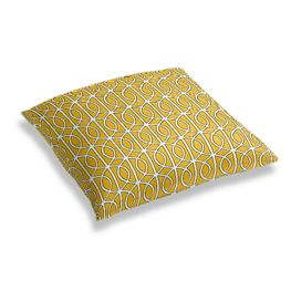 Modern Yellow Trellis Floor Pillow