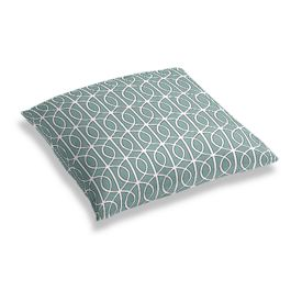 Modern Teal Trellis Floor Pillow