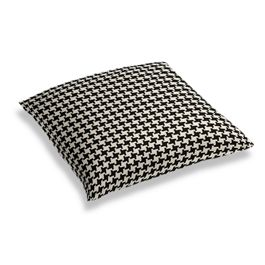 Black & White Houndstooth Floor Pillow