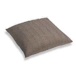 Knitted Brown Chevron Floor Pillow
