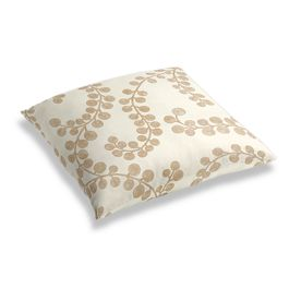 Gold Metallic Swirl Floor Pillow