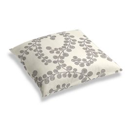 Gray Botanical Swirl Floor Pillow