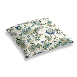 Jacobean Blue Floral Floor Pillow