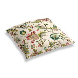 Teal & Pink Floral Floor Pillow