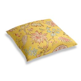 Delicate Yellow Floral Floor Pillow