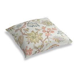 Delicate Aqua Blue Floral Floor Pillow