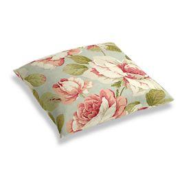 Aqua & Pink Rose Floor Pillow