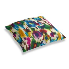 Multicolor Watercolor Floor Pillow