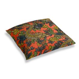 Red Chinoiserie Dragon Floor Pillow