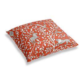 Red Animal Motif Floor Pillow