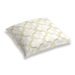 Embroidered Light Yellow Chain Floor Pillow