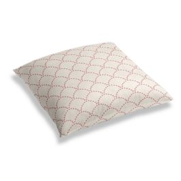Embroidered Pink Scallop Floor Pillow