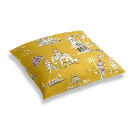 Purple & Yellow Chinoiserie Floor Pillow
