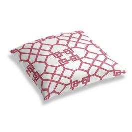 Asian Pink Trellis Floor Pillow