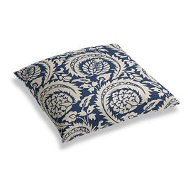 Natural & Blue Botanical  Floor Pillow