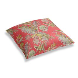 Intricate Pink Floral Floor Pillow