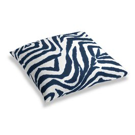 Blue Zebra Print Floor Pillow