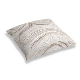 Light Gray Marble Floor Pillow