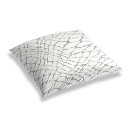 Gray & White Net Floor Pillow
