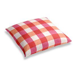 Pink & Orange Buffalo Check Floor Pillow