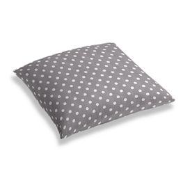 White & Gray Polka Dot Floor Pillow