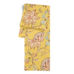 Delicate Yellow Floral Table Runner