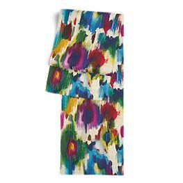 Multicolor Watercolor Table Runner