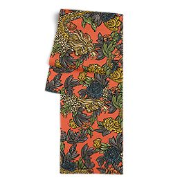 Red Chinoiserie Dragon Table Runner