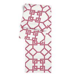 Asian Pink Trellis Table Runner