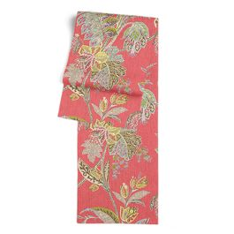 Intricate Pink Floral Table Runner