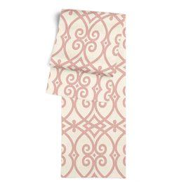 Scrolled Pink Trellis Table Runner
