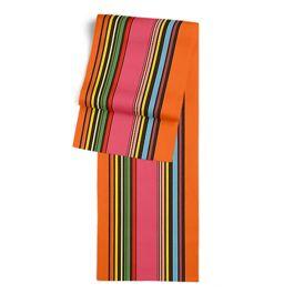 Pink Multicolor Stripe  Table Runner