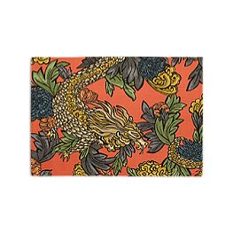 Red Chinoiserie Dragon Placemats