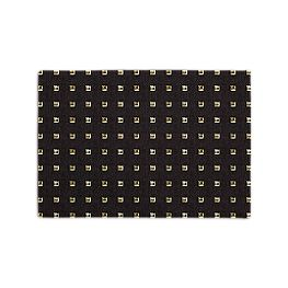 Gold Studded Black Placemats