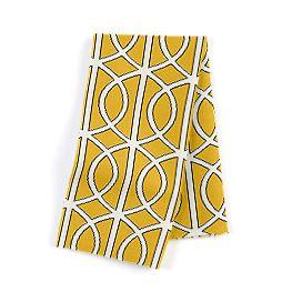 Modern Yellow Trellis Napkins