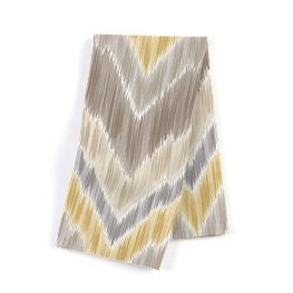 Yellow & Gray Ikat Chevron Napkins