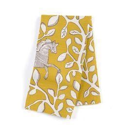 Yellow Animal Motif Napkins