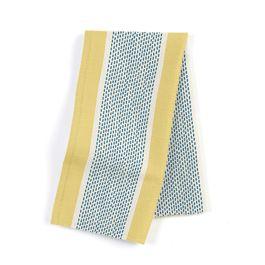 Teal & Yellow Stripe Napkins