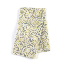 Yellow & Gray Scallop Napkins