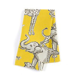 Yellow & Gray Zoo Animal Napkins