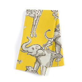 Yellow & Gray Zoo Animal Napkins