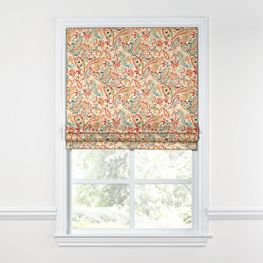 Multicolor Red Paisley Roman Shade
