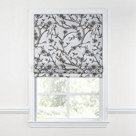 Gray Floral & Bird Roman Shade