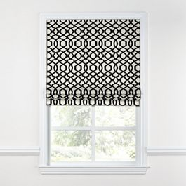 Black & White Trellis Roman Shade
