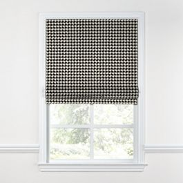 Black & White Houndstooth Roman Shade