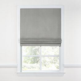 Gray Linen Roman Shade