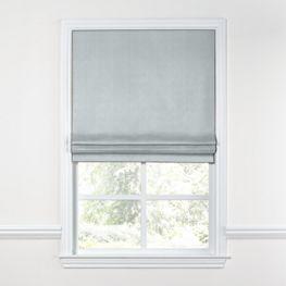 Cool Gray Lightweight Linen Roman Shade