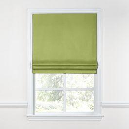 Grass Green Slubby Linen Roman Shade