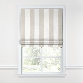 Light Beige Awning Stripe Roman Shade